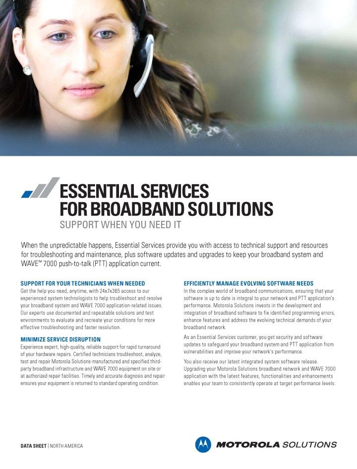 Essential Services for Broadband Solutions