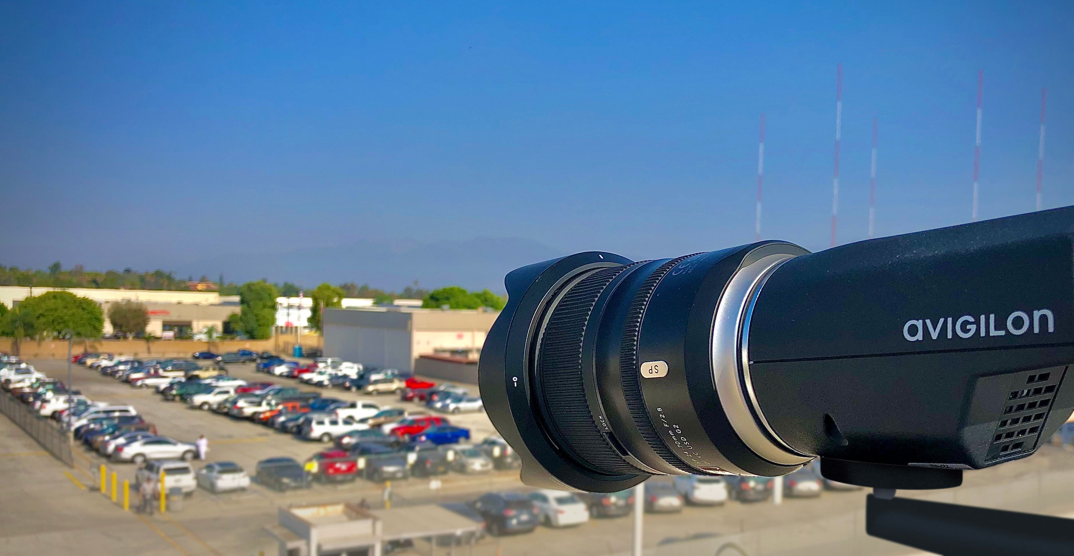 Avigilon_H4_Pro_Camera_Installed_Parking_Lot