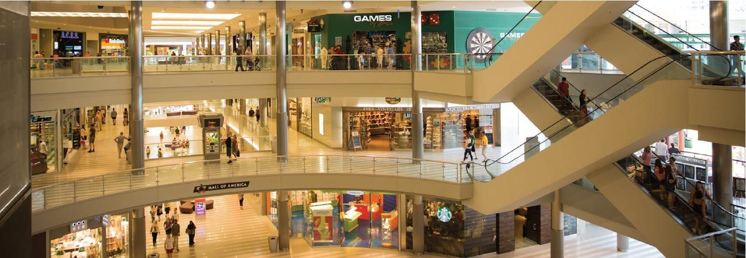 SHOPPING MALL ELIMINATES INTERFERENCE, STATIC AND DEAD ZONES