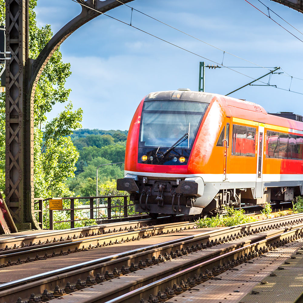 Electric locomotive in Frankfurt