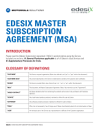 Master Subscription Agreement (MSA)