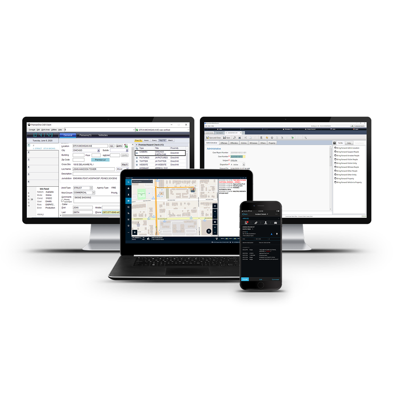 PremierOne Cloud Suite - CAD, Mobile & Records
