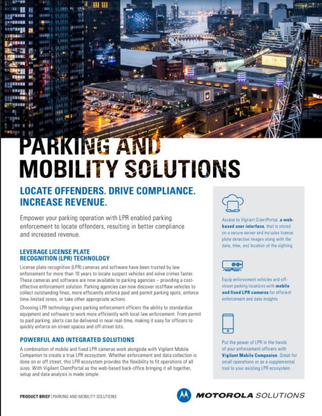LPR for Parking and Mobility Solution Brief