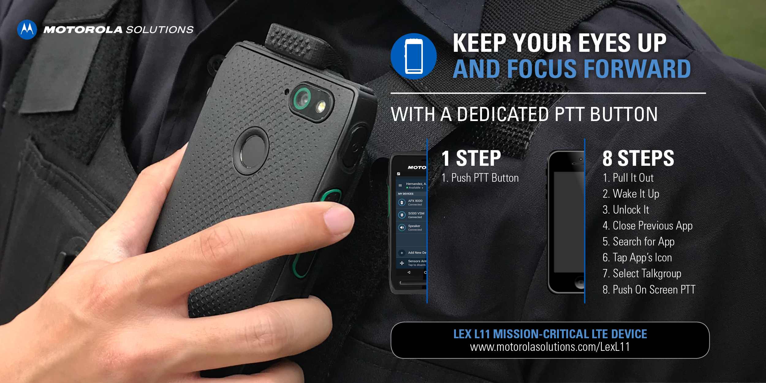 LEX L11 Mission Critical Handheld LTE Device - Motorola Solutions