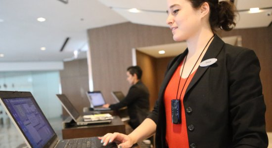Hospitality Front Desk Push To Talk