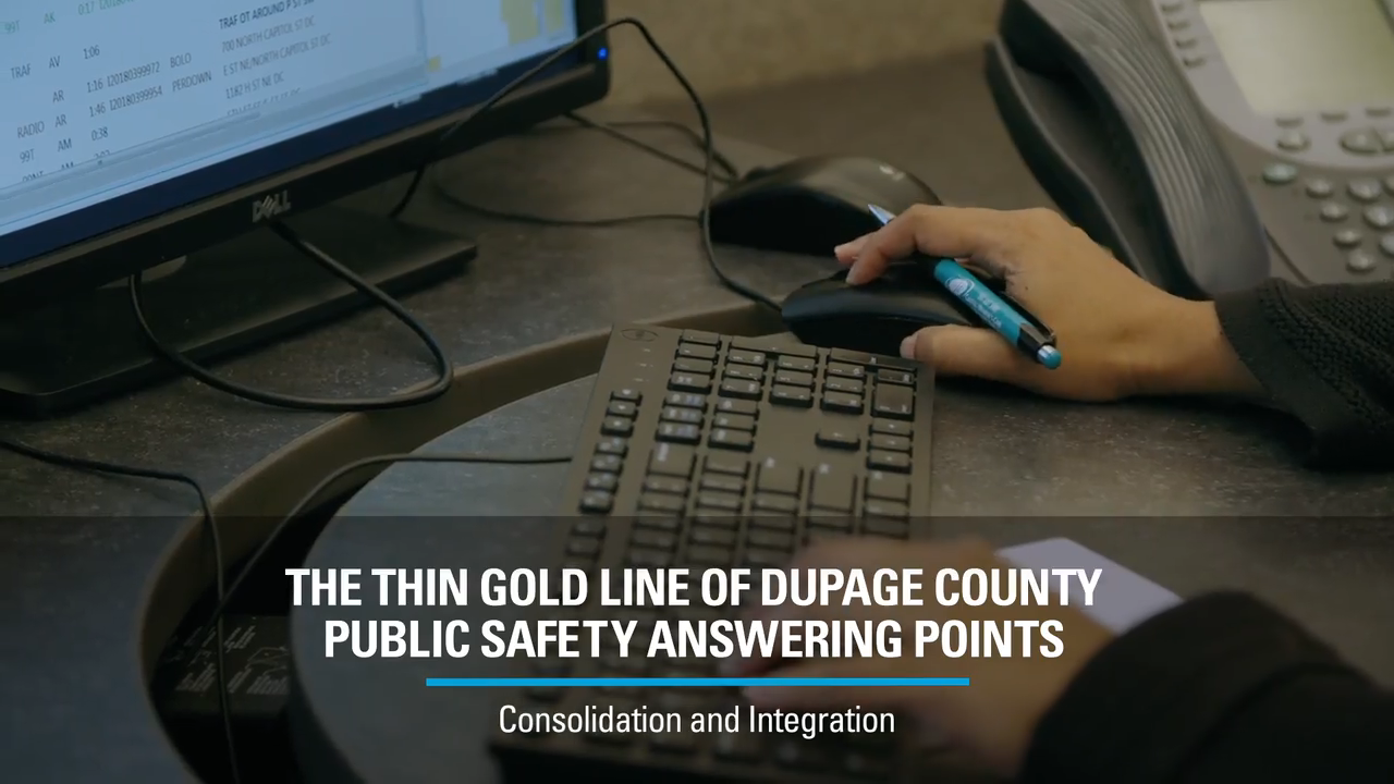 The Thin Gold Line of DuPage County PSAPs