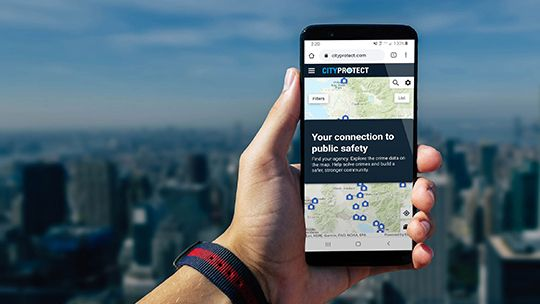 CityProtect on mobil