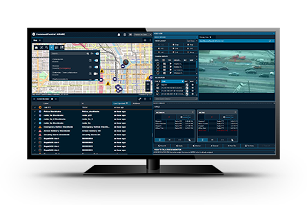 Screenshot of CommandCentral Aware real time intelligence software
